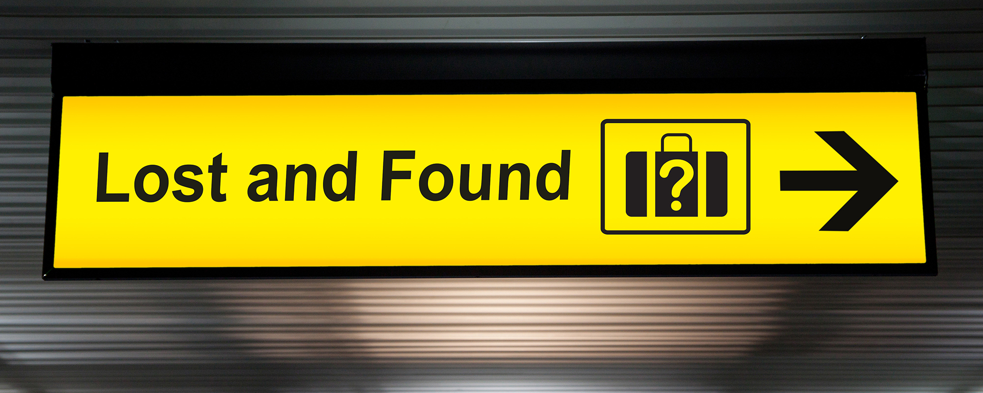 Voorwerp verloren op het vliegtuig